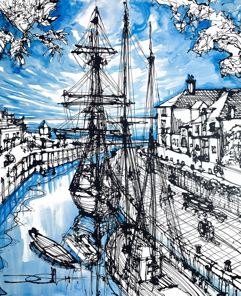 The Phoenix at Charlestown Harbour by ingo -  sized 35x43 inches. Available from Whitewall Galleries